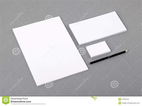 Stationery Stock Card Template by Blank Basic Stationery Letterhead Flat Business Card
