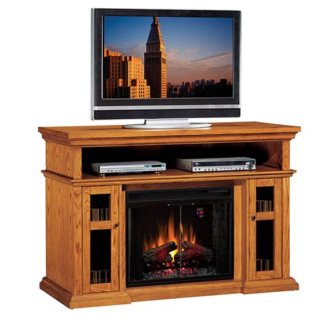 Oak Electric Fireplace by Classic Pasadena Collection 60 Wide Media Mantel
