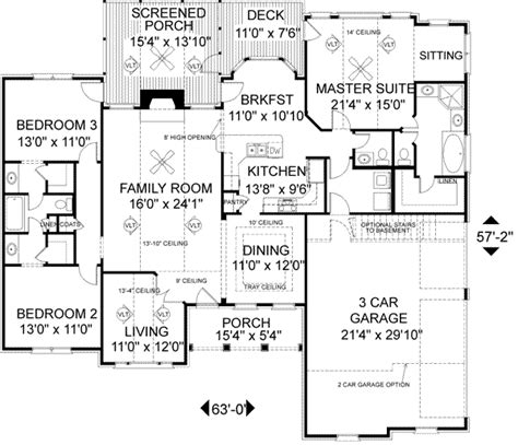 reverse ranch house plans ranch style house plans plan 4 157