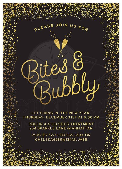 New Years Eve Party Invitations Party Invitations Templates New Year Invitation Card Template