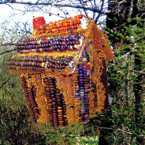 indian corn large edible birdhouse w corn roof
