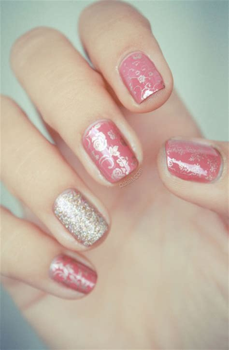 simple nail art designs 2014 simple pink wedding nail art designs ideas 2014