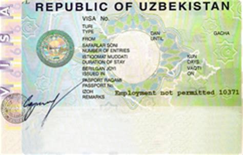 Visa Support Letter Uzbekistan Uzbekistan Visa Support