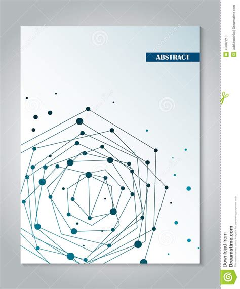 layout xl connectivity brochure blue cover design template with abstract network