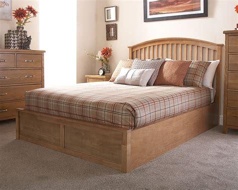 oak ottoman bed madrid wooden ottoman bed 135cm oak amc furniture