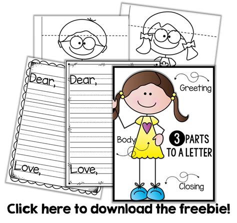 three letter parts friendly letter writing a freebie minds at work 1669