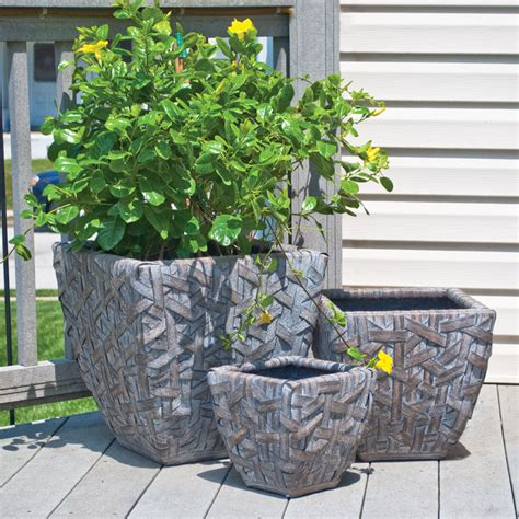 cardiff curved square planter set of 3 pride garden
