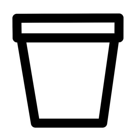 Leaf Bag Holder Stand by Empty Flower Pot Clipart Clipartxtras
