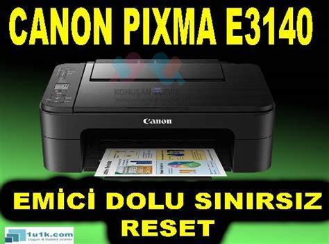 reset tool canon e400 canon e3140 reset