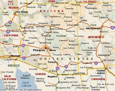 us map with cities arizona map of arizona travel map travelquaz