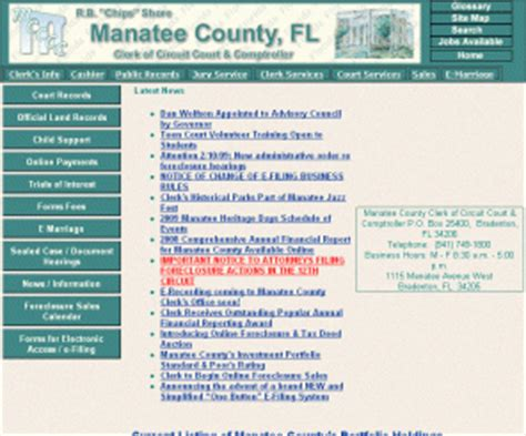 Broward County Clerk Of Court Official Records Search Clerkofcourts Manatee County Clerk Of Circuit Court And Comptroller