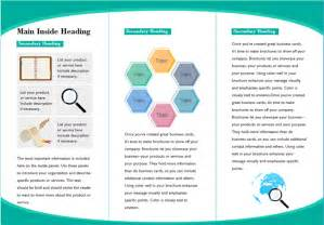 presentation handout template word customizable leaflet templates free