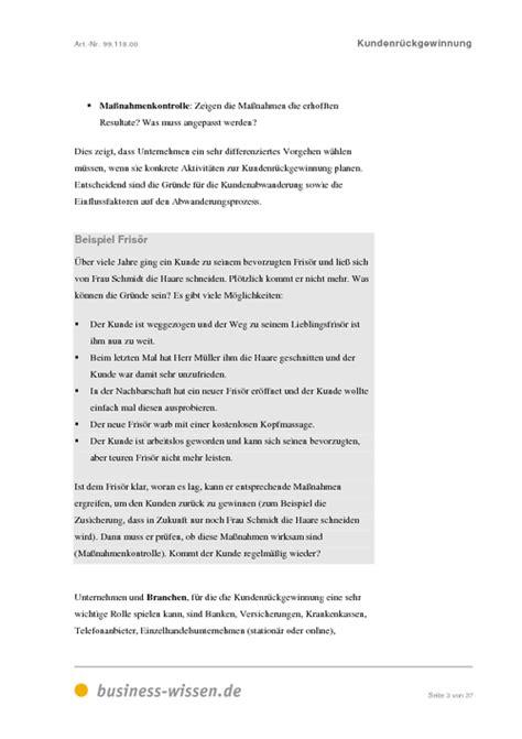 Anschreiben Kunden Kundenr 252 Ckgewinnung Management Handbuch Business Wissen De