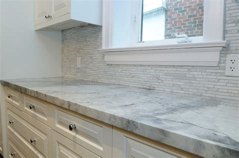 Rustic Backsplash For Kitchen by Glamorous Super White Quartzite Trend Toronto Traditional
