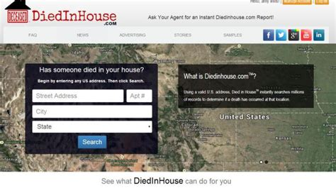 diedinhouse com diedinhouse ghoulish website that tells you if someone
