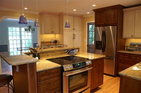 how to paint stained kitchen cabinets white raleigh kitchen remodel cozy mix of paint and stained cabinetry traditional kitchen