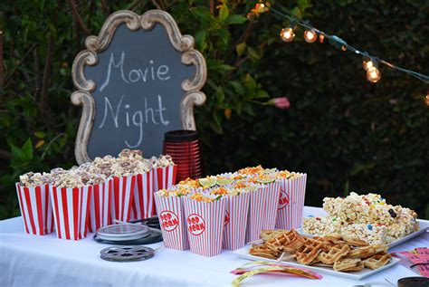 backyard movie party outdoor movie night party package