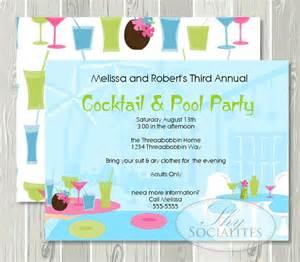 cocktail pool invitation pool cocktail