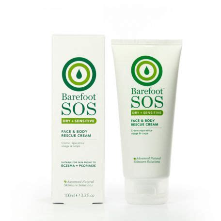 body comfort pure source barefoot sos face body rescue cream