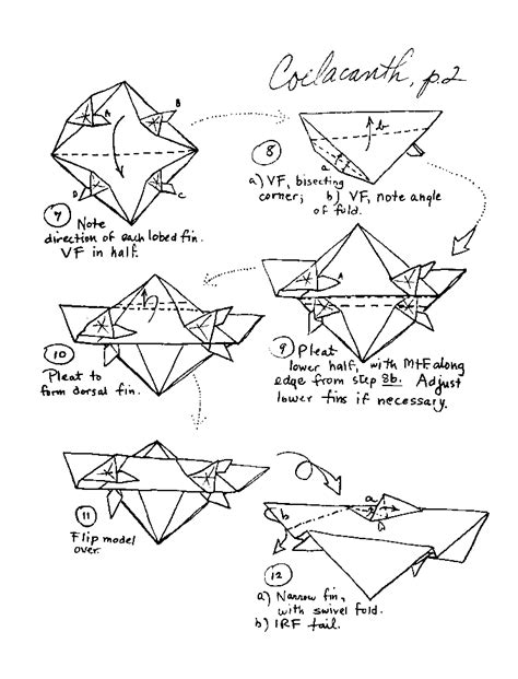 Origami Sea Pdf - origami fish and sea creatures