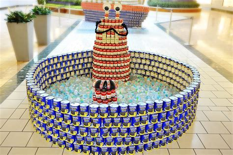 canstruction ideas this week canstruction exhibit opens artwork on display