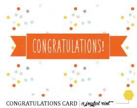 congratulations card free printable friday a joyful riot