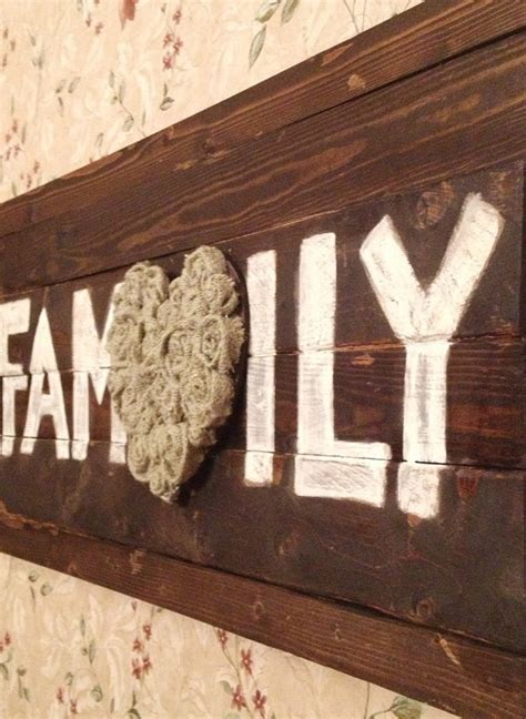 family wood sign home decor 30 quot x15 quot family wood sign home decor home pinterest