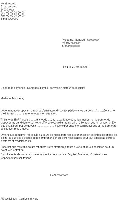 Lettre De Motivation Emploi Word Doc 2862 Lettre De Motivation Simple Pour Tout Type D