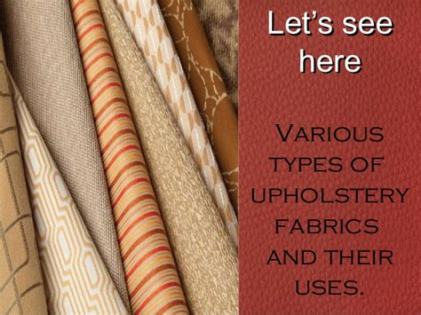 different types of upholstery fabric for furniture