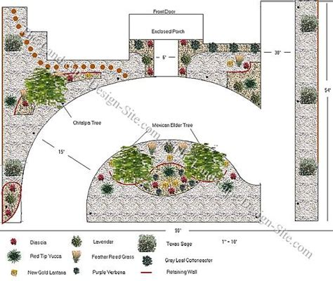 front yard circular driveway design on a sloped lot southwest landscaping pinterest