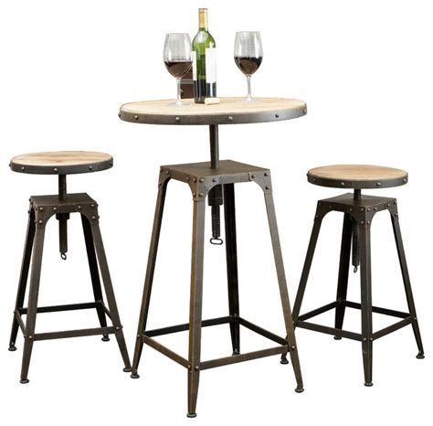 Industrial Bistro Table Tavern Industrial Design Bar Bistro Set Industrial Dining Sets By Great Deal Furniture
