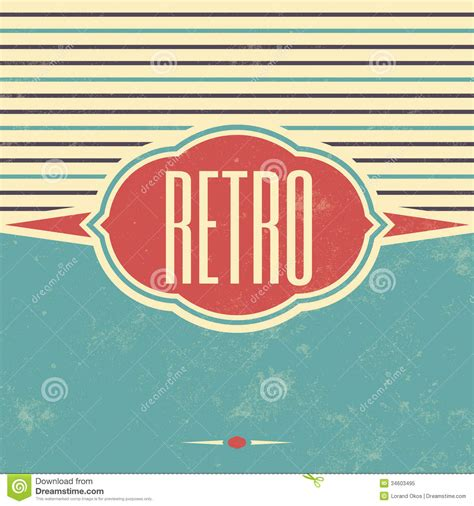 Retro 80 S Card Templates Free by Retro Template Design Vintage Background Stock Vector