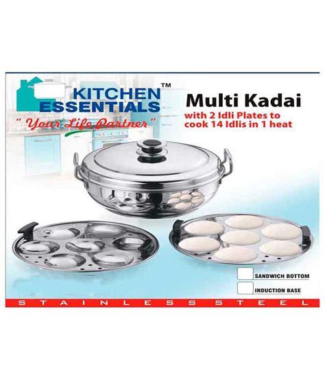 kitchen essentials induction idly steamer kadai royal 2 idli plates buy at best price