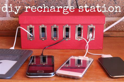 charging station organizer diy make a device charging station 187 dollar store crafts