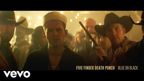 five finger death punch on youtube five finger death punch blue on black official video