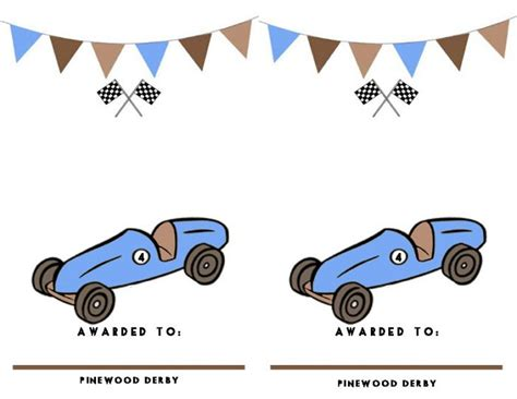 pinewood derby certificate templates pinewood derby certificates