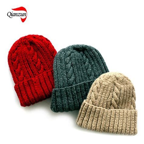 beanie knit hat pattern china warm knitted beanie hat pattern hf019 photos