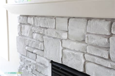 Adding Texture To Paint - simplicity white washed stone fireplace guest post country chic paint