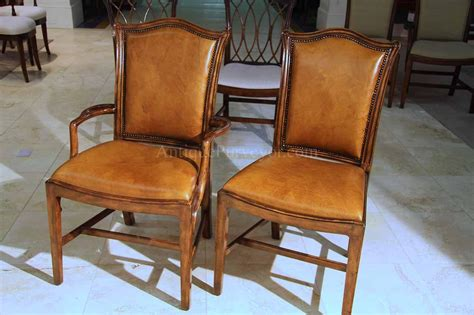 Chippendale Dining Room Chairs by Mahogany Chippendale Chairs For The Dining Room Leather Seats