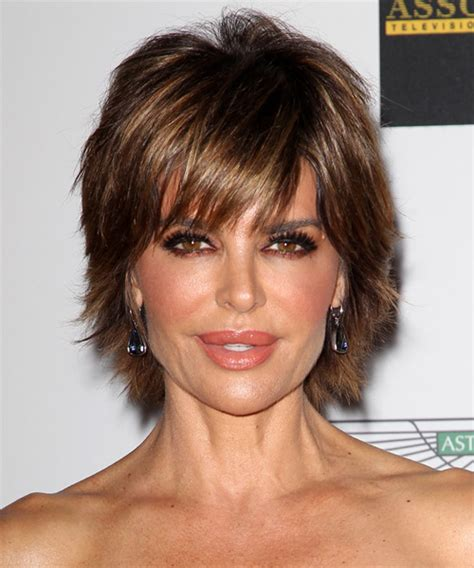 what type of hair products does lisa rinna use lisa rinna short straight casual hairstyle with side swept