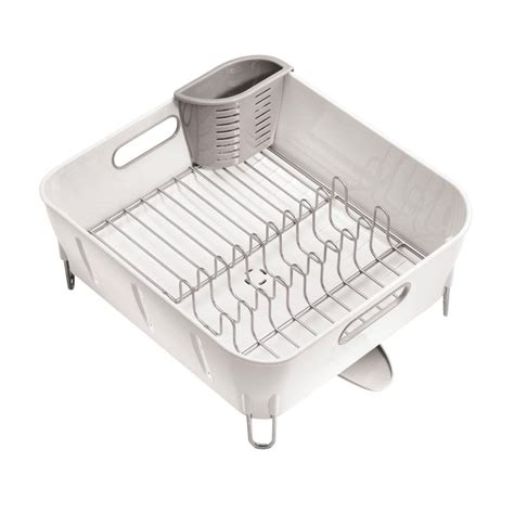 simplehuman compact dish rack simplehuman compact dish rack in white plastic kt1104