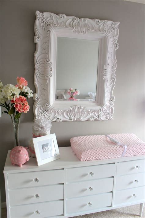 Crib Mirrors by Pink Grey Nursery Baby And Tables