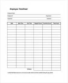 sample time sheet template 21 free documents download