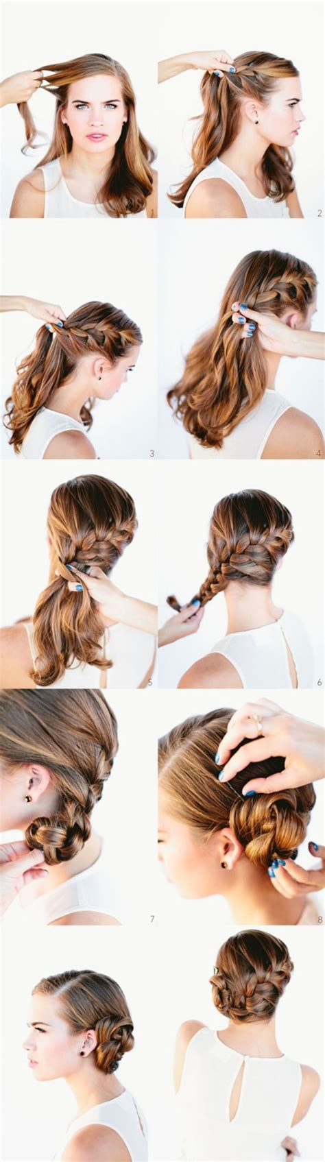 french bun hairstyle step by step double ponytail updo hairstyle step by step tutorial 8