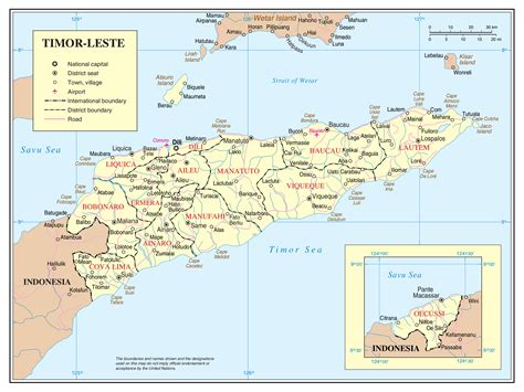 east timor maps maps of east timor detailed map of east timor timor