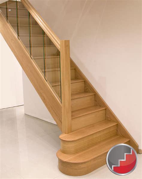 Oak Staircase Houston Oak Staircase Glass Balustrade Design