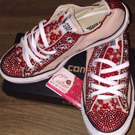 Jumper Ribbon Wedges Maron 63 converse shoes custom bling converse from tayla