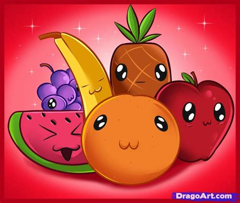 fruit drawings how to draw fruit step by step food pop culture free