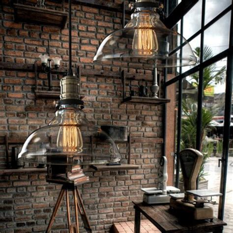 country style hanging light vintage american country style industrial clear and amber