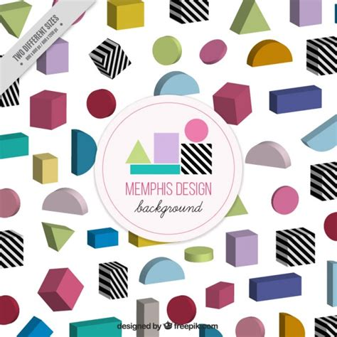 colored shapes colored geometric shapes background vector premium